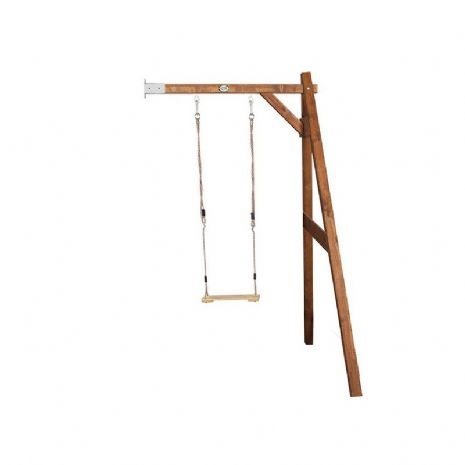 Suffolk Natural Wooden Kids Single Wall Mount Swing Set